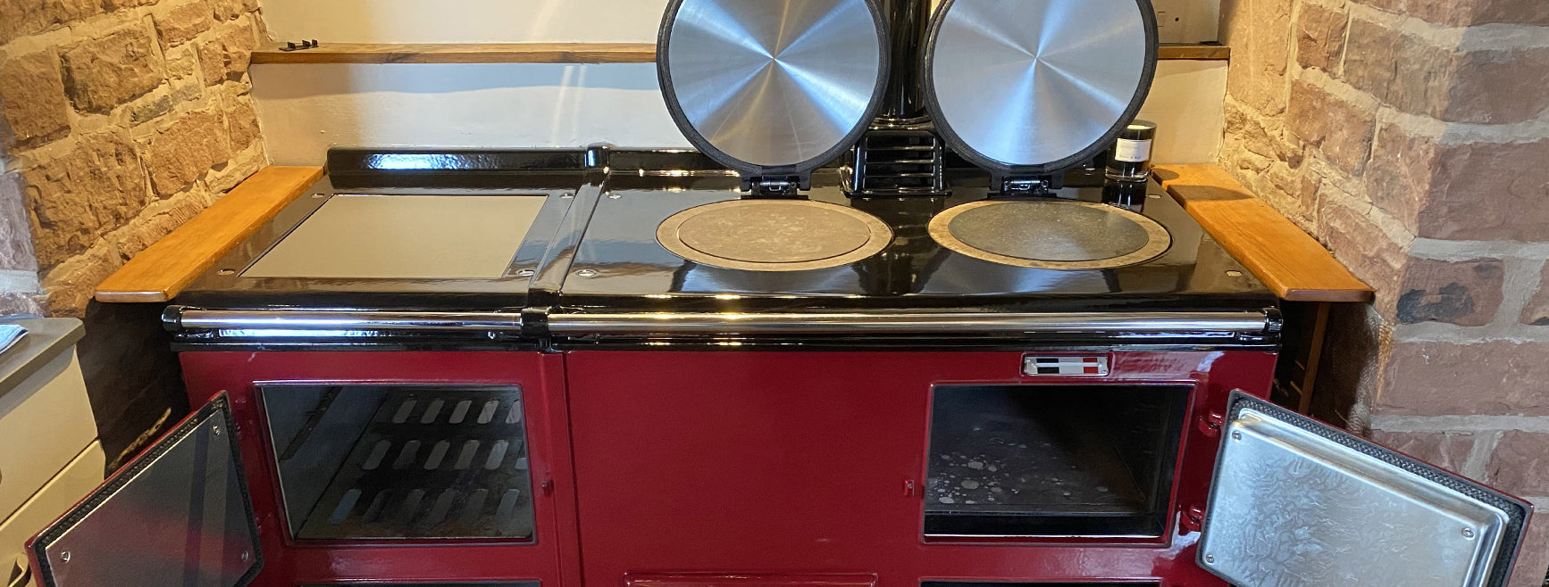Re-enamelling an Aga range cooker | From cream to claret in Cumbria