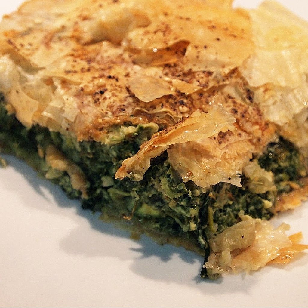 Spanikopita - A Greek Vegetarian Tart