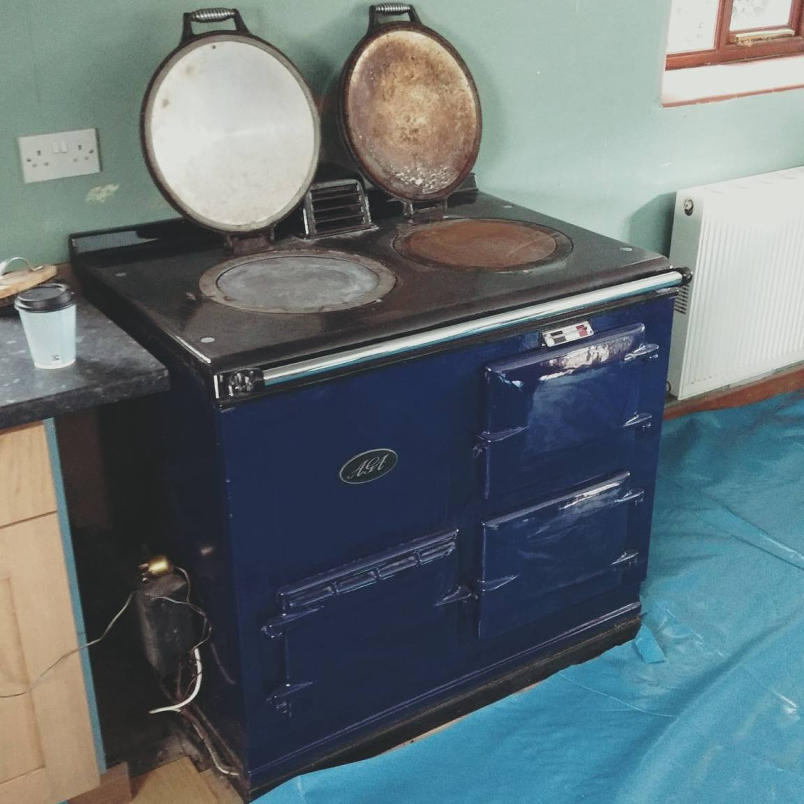 Aga blue dismantled and ready to refurb