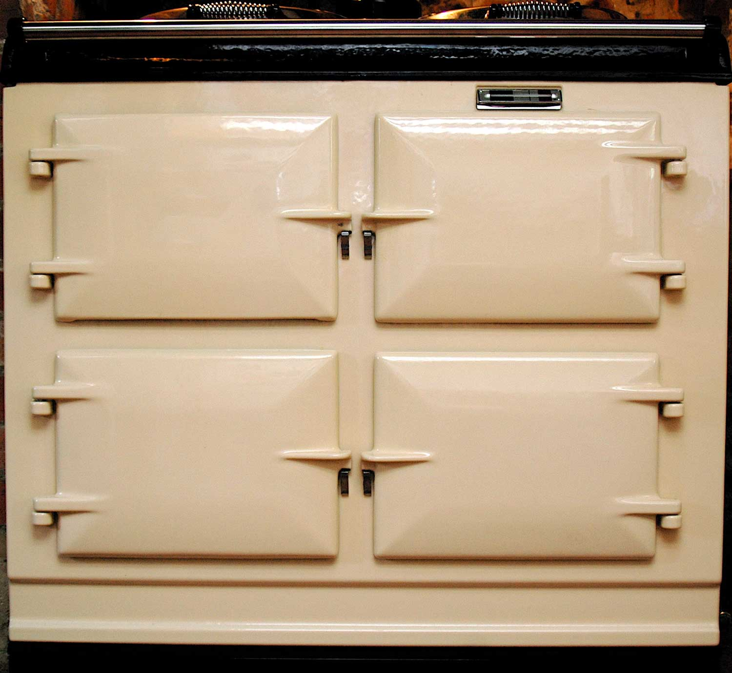 3 oven Aga range cooker in cream