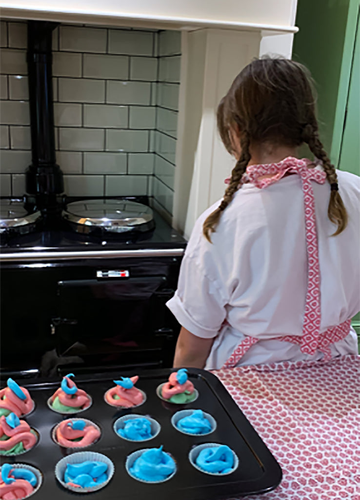 A muffin cupcake tray that fits on the runners of an Aga range cooker