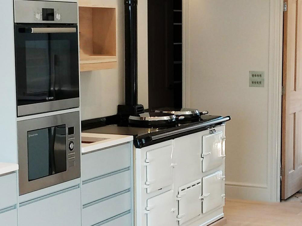 4 oven range cooker in Cornwall that has been converted to Electric