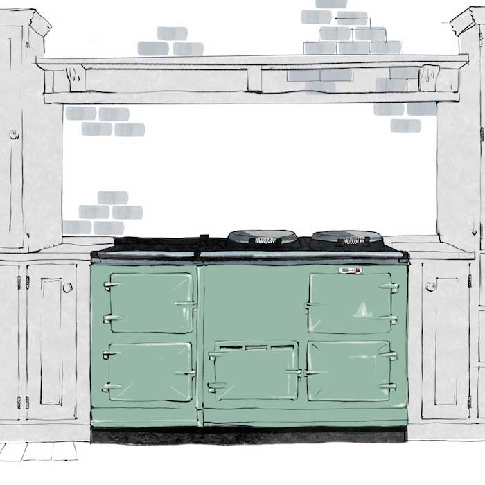 4 oven 'Deluxe' Aga range cooker dimensions