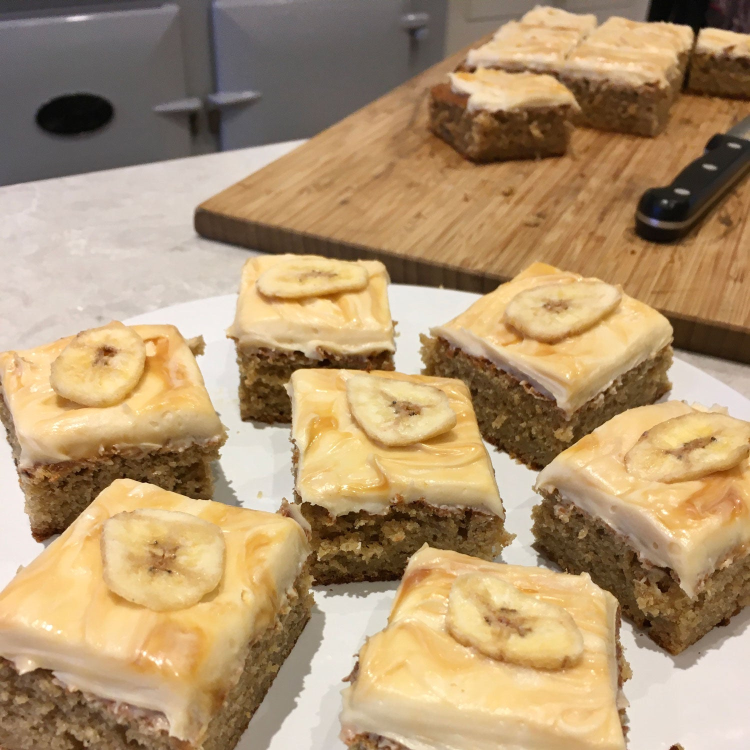 Banoffee traybake cake with instructions for use with Aga range cookers