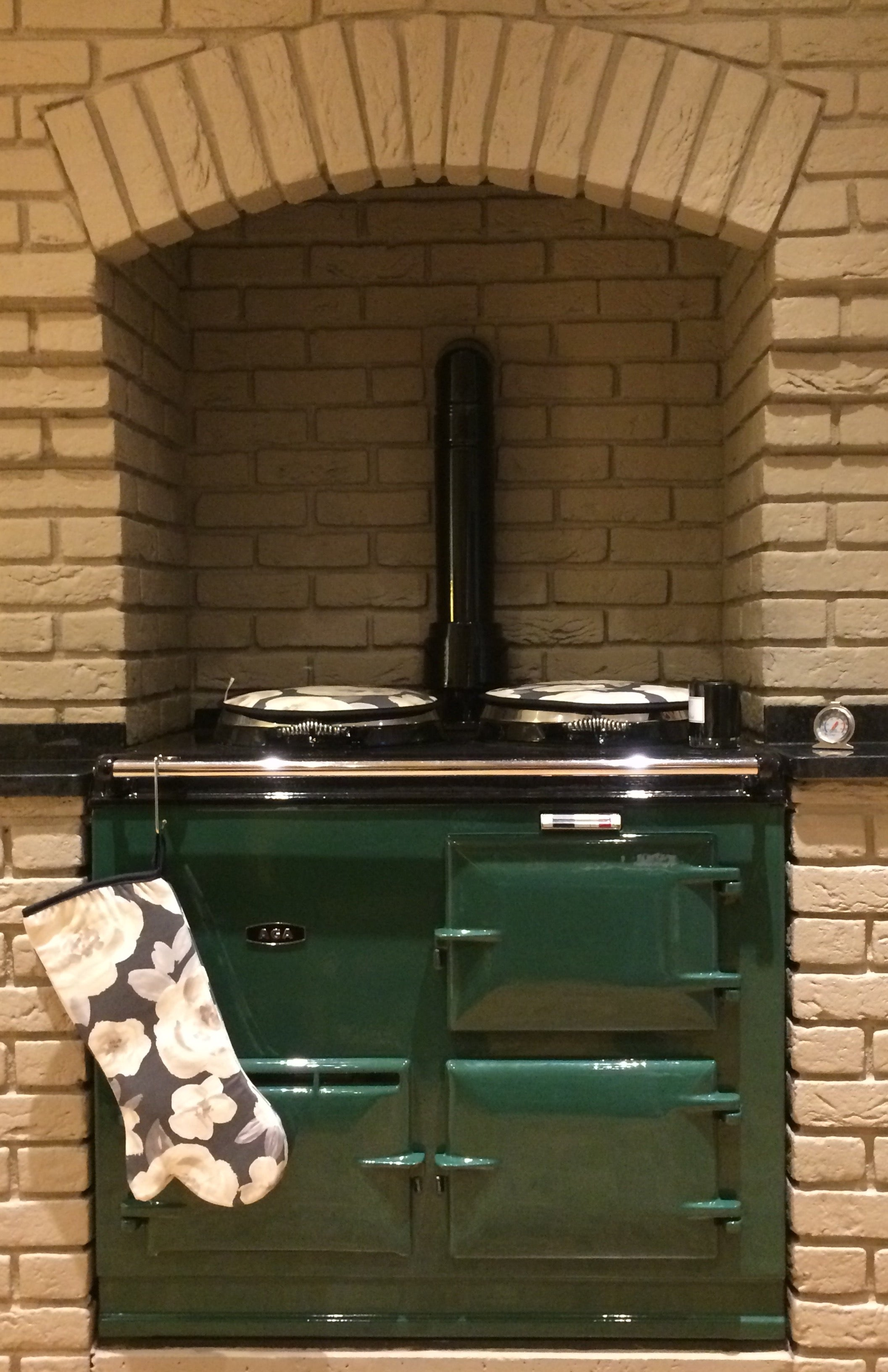 Green Aga brick surround