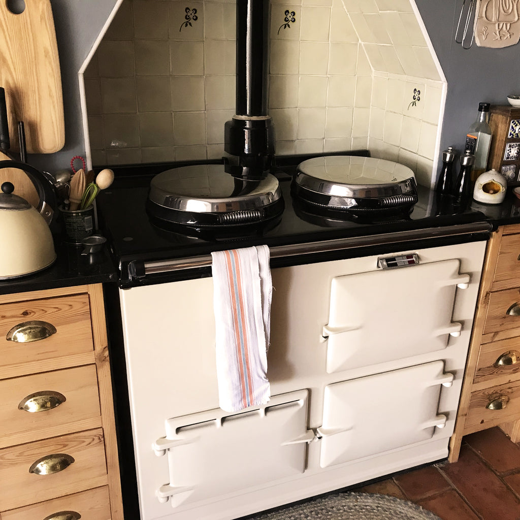 How to clean the enamel on an Aga range cooker