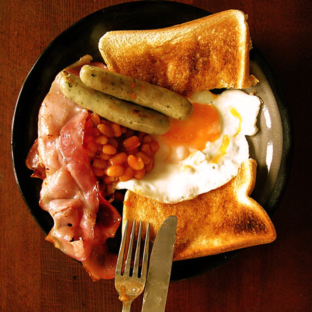 How to cook a fryup cooked breakfast full english in an Aga range cooker