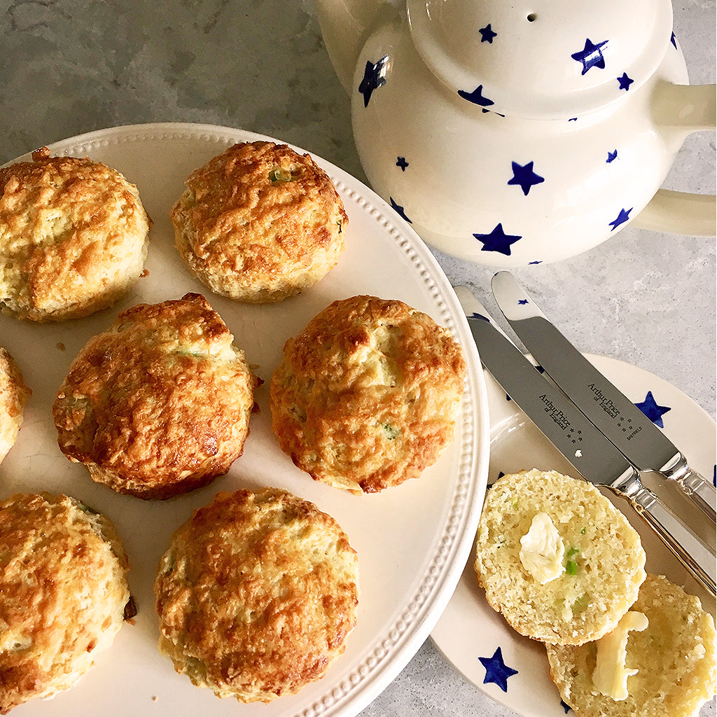 How to cooke savoury scones in an Aga range cooker - Blake and bull kitchenware textiles cookware baking trays suitable for use with aga and rayburn range cookers - reconditioned aga range cookers re-enamelling services and electric conversion services for Aga range cookers