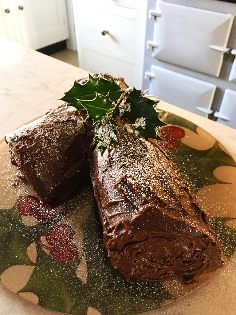 How to make a gluten free chocolate Christmas yule log in an Aga range cooker