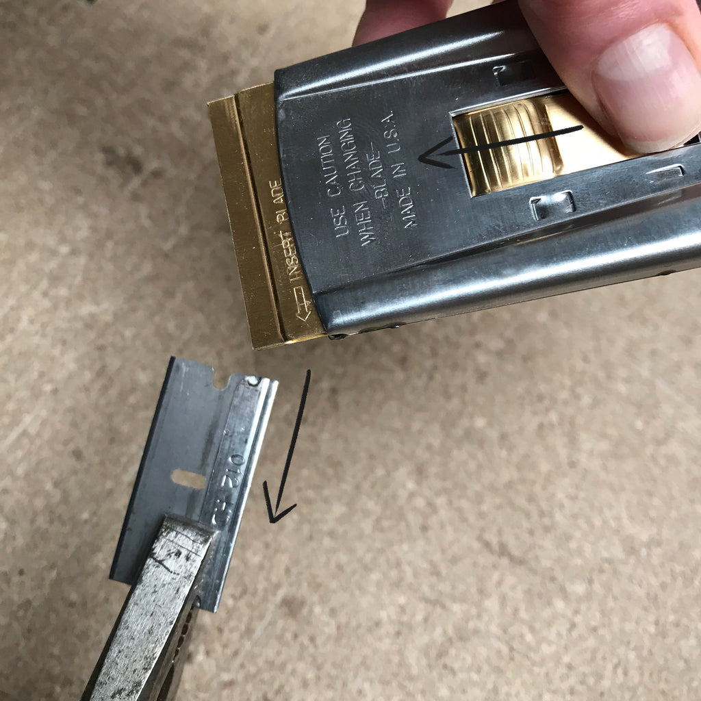 How to fit a blade into an enamel scraper suitable for use on Aga range cookers
