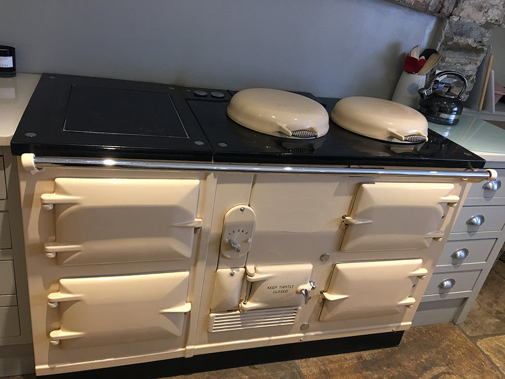 A 4 oven standard aga range cooker converted to electric by Blake & Bull UK