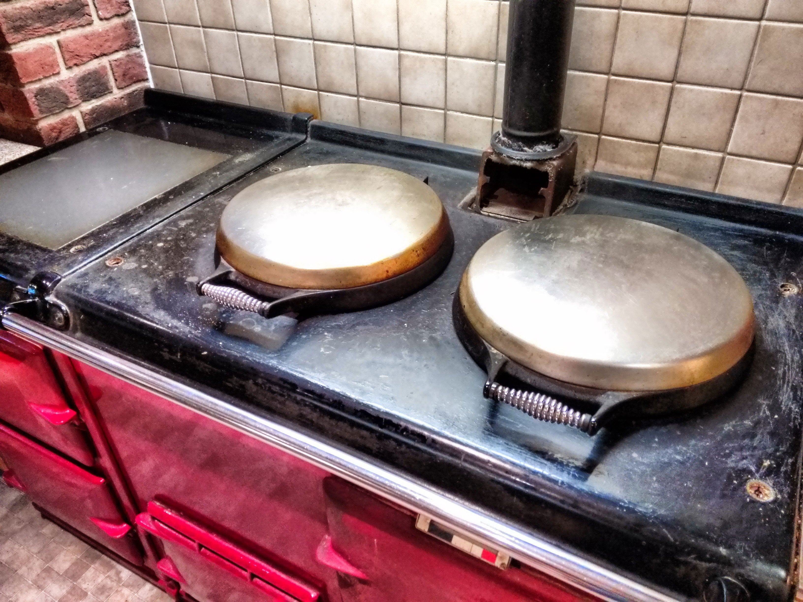 re-enamel red aga range cooker