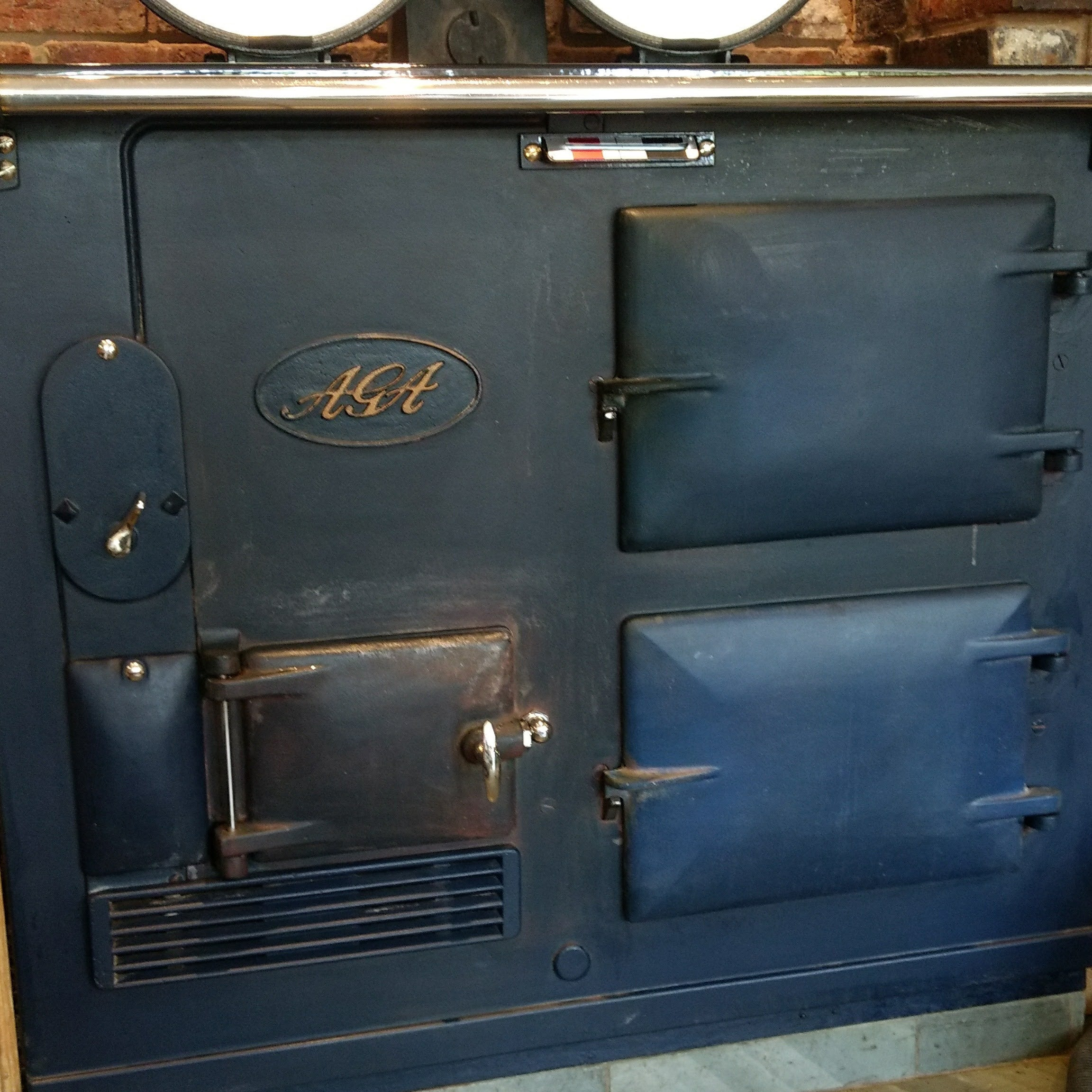 Resurfaced Aga blue front
