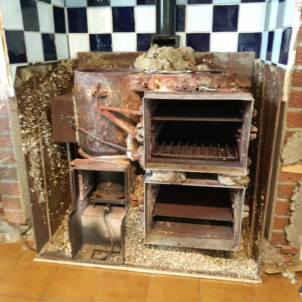 Dismantled Aga range cooker