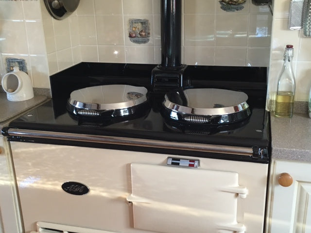 Aga glass surround tiling replacement