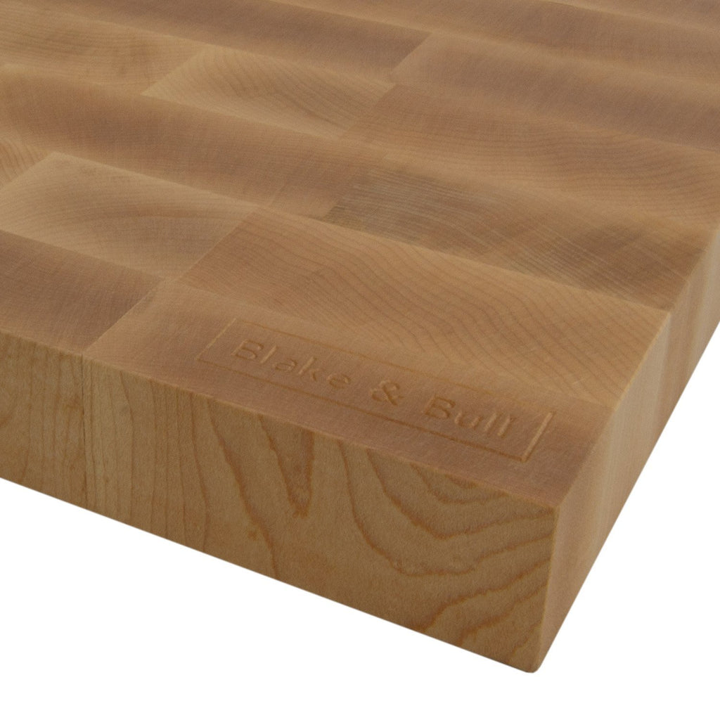 maple end grain chopping board made in the uk for blake and bull