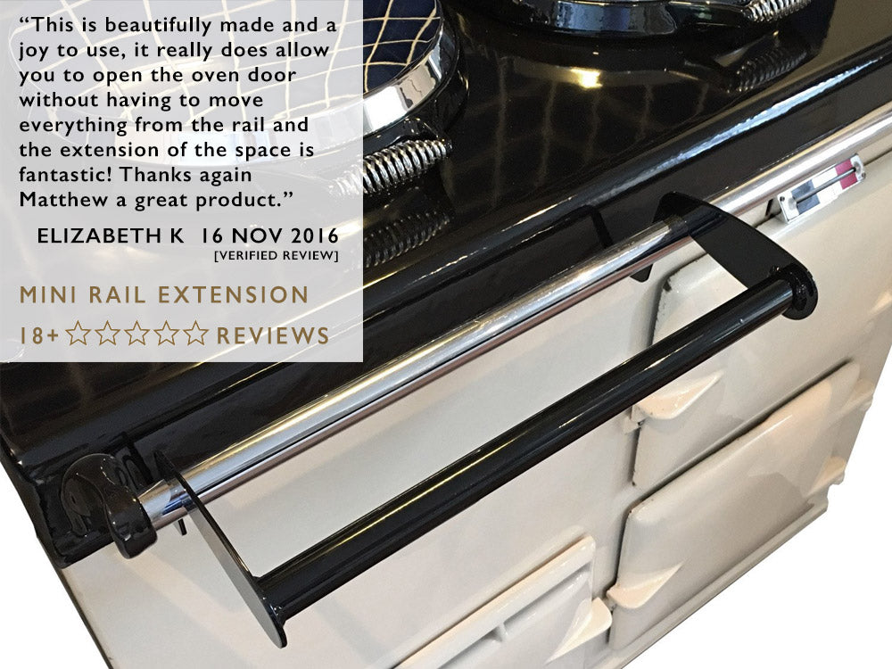 Facebook review of our Aga drying rack, stacker & rail