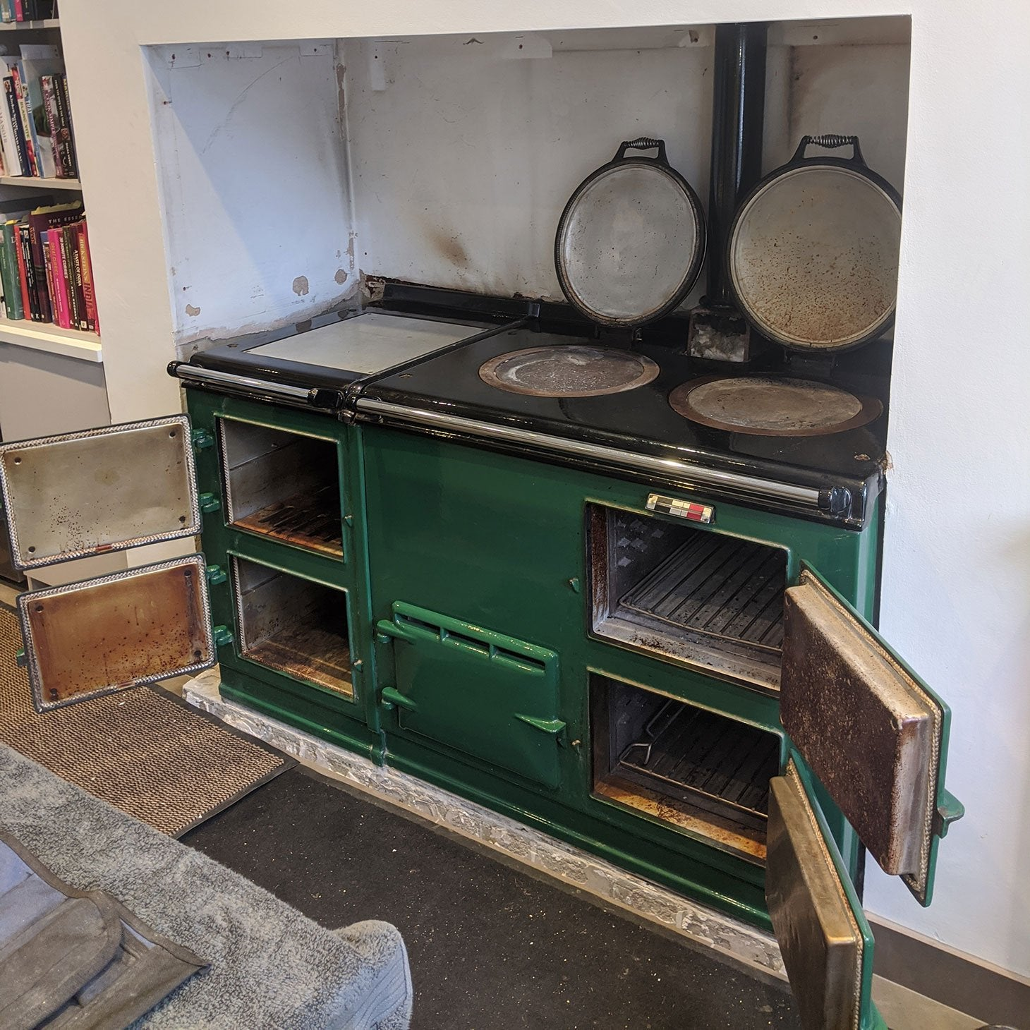 Green Aga range cooker