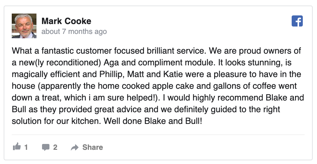 Review of reconditioned Aga range cooker by Blake & Bull