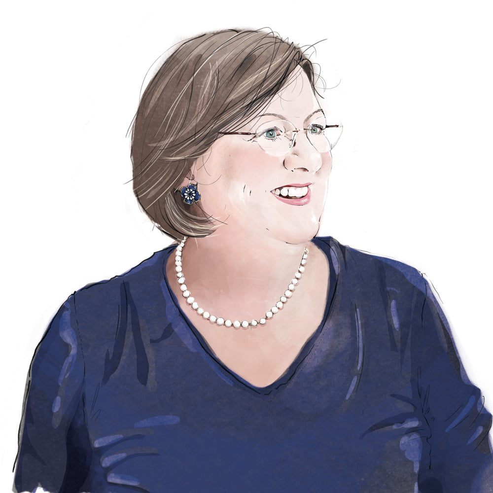 Drawing of Sarah Whitaker - The Aga Lady