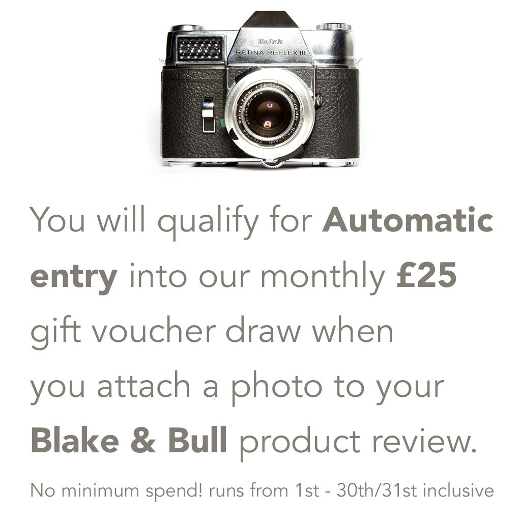 Win a £25 gift voucher once a month in the Blake and Bull