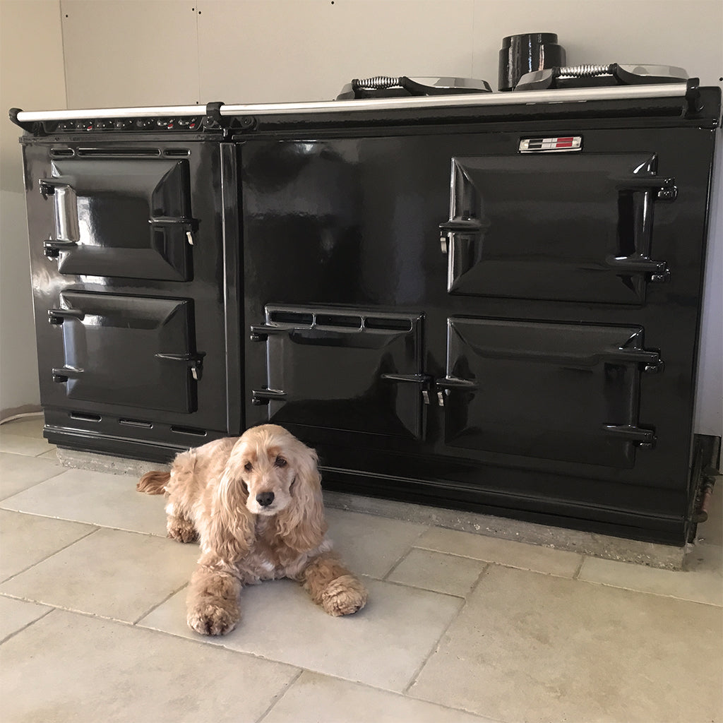 A thorough refurbishment cleaning service suitable for Aga range cookers Re-enamelling service in vitreous enamel suitable for Aga range cookers Refurbishment and re-enamel re-coating re-surfacing of an Aga range cooker by Blake and Bull Uk