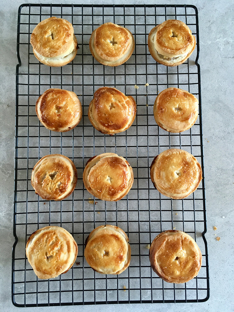 how to cook small pies picnic pies pork pies meat pies in an aga range cooker home cooked pastry in an aga range cooker - Blake and Bull refurbishment services re-enamelling services reconditioned aga range cookers suitable for aga range cookers a re-enamelled aga range cooker in white