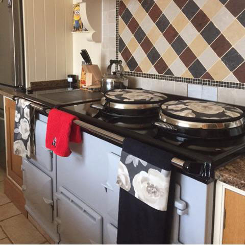 Rosie hob covers on Aga range cookers