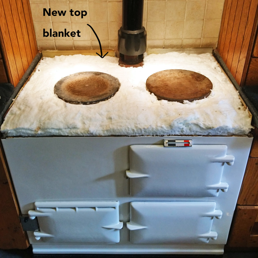 How to top up the insulation in an Aga range cooker - blake and bull blake & bull textiles kitchen ware cookware oven trays oven shelves baking trays loaf tins, recipes suitable for Aga and Rayburn range cookers - reconditioned aga range cookers electric aga range cookers re-enamelling services suitable for aga range cookers enamel repair restore spares suitable for use on and in Aga range cookers.