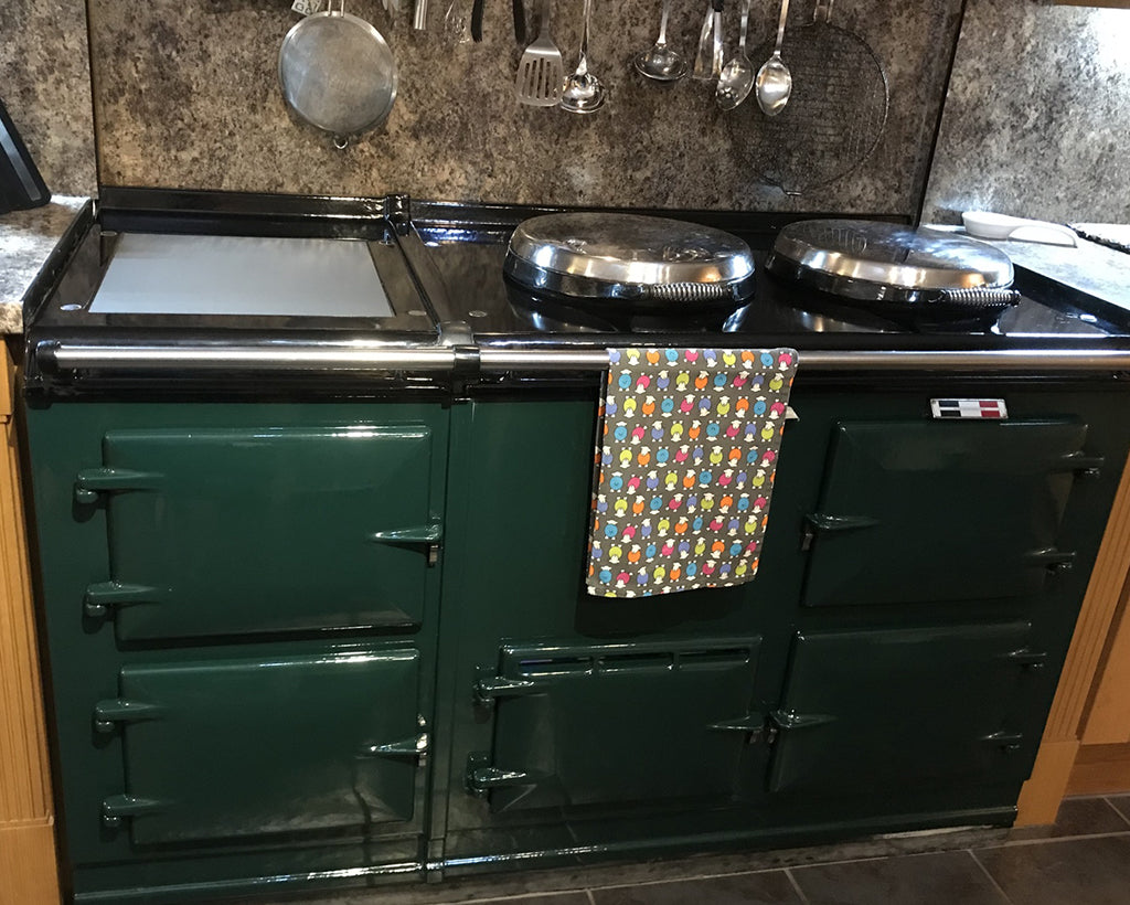 Cleaning products and pastes suitable for use on the vitreous enamel of Aga range cookers