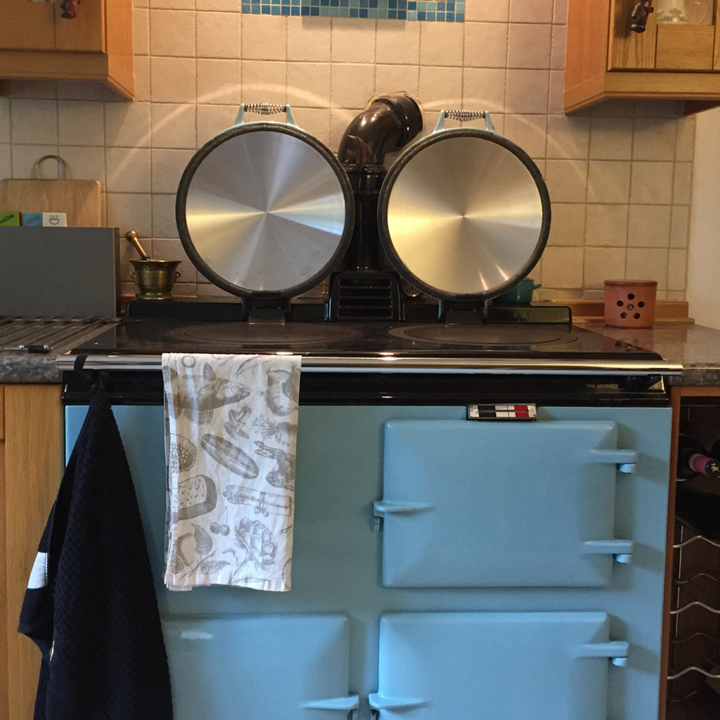 Aluminium lid liner replacement kits suitable for use on Aga range cookers