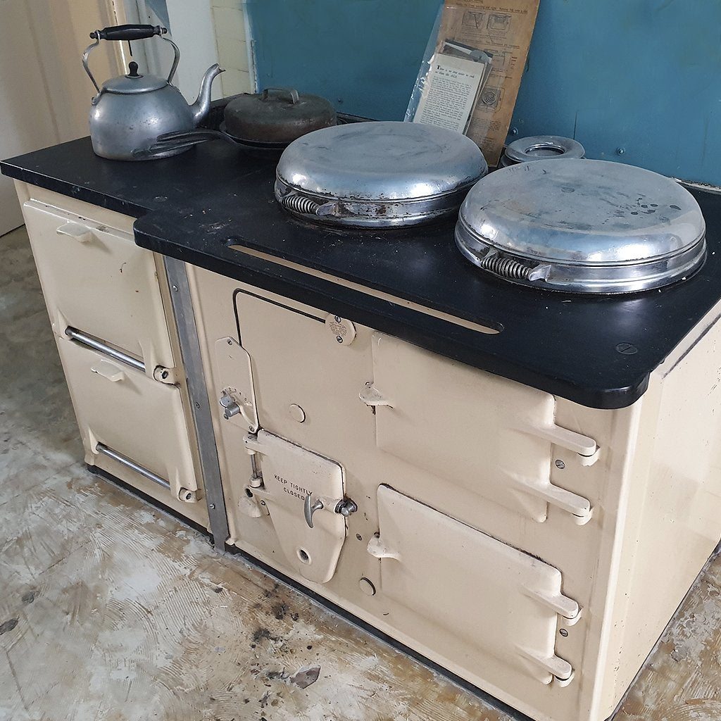 A vintage aga range cooker from 1936