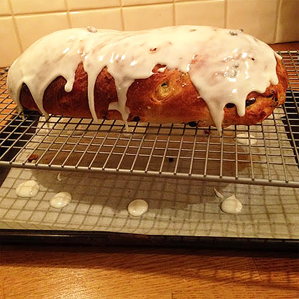 How to make stollen in an Aga range cooker stollen recipe marzipan recipe icing glaze recipe