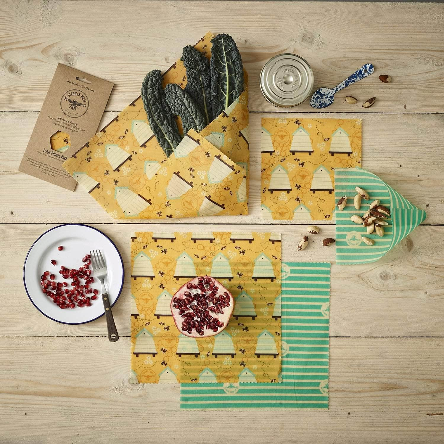 *New* Beeswax wraps - large kitchen pack Beehive