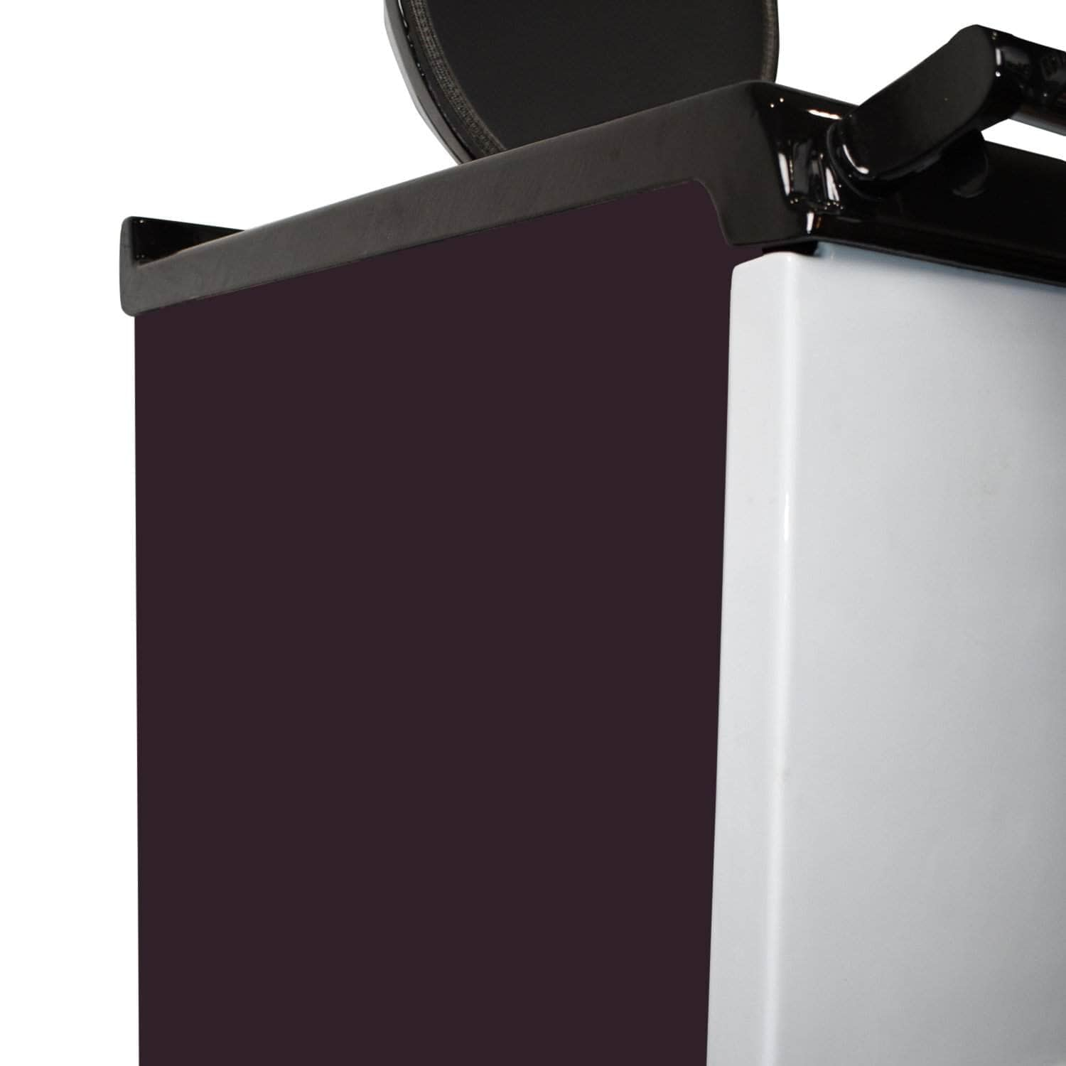 Side panels for use with 'Deluxe' Aga range cookers Aubergine