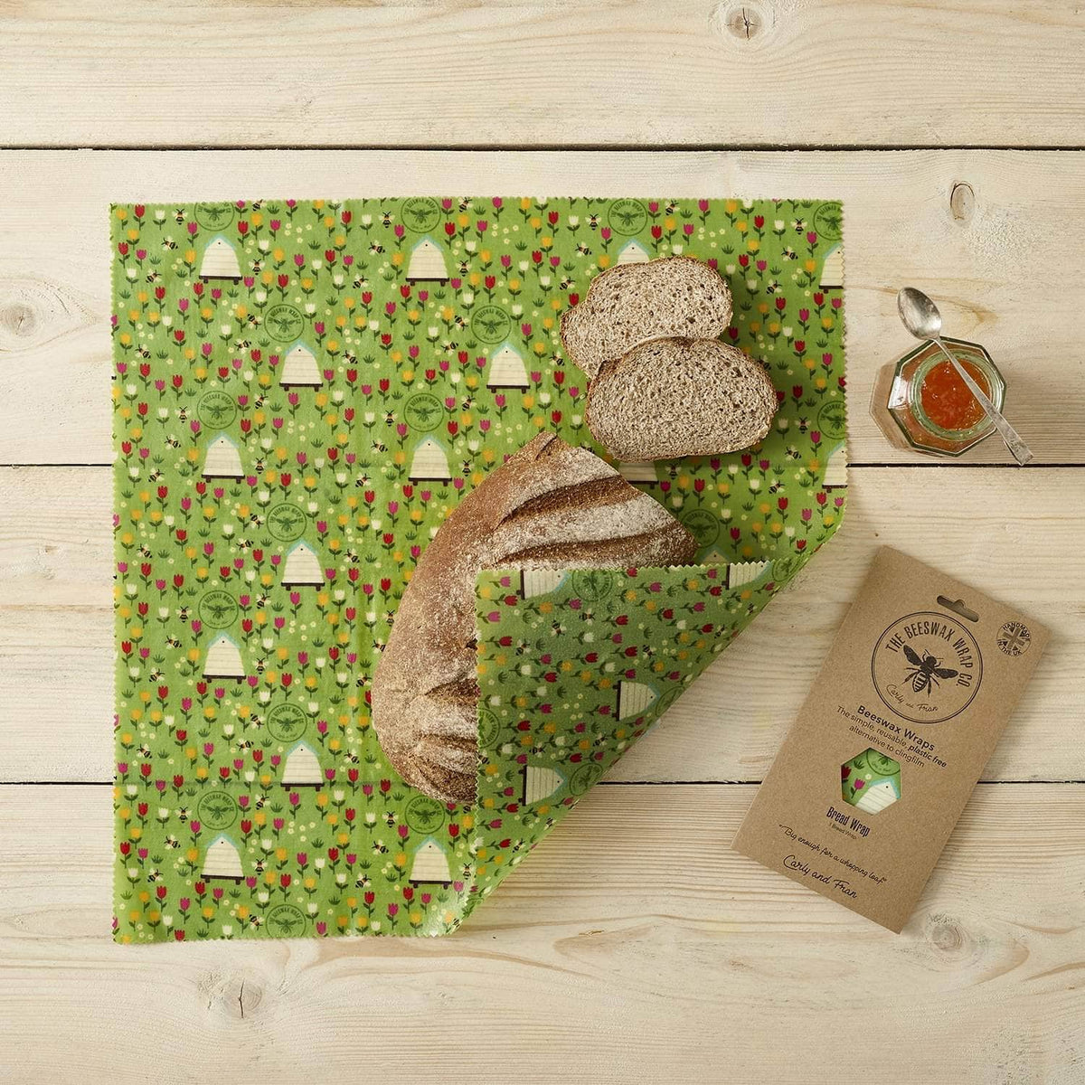 *New* Beeswax wraps - bread wrap Meadow