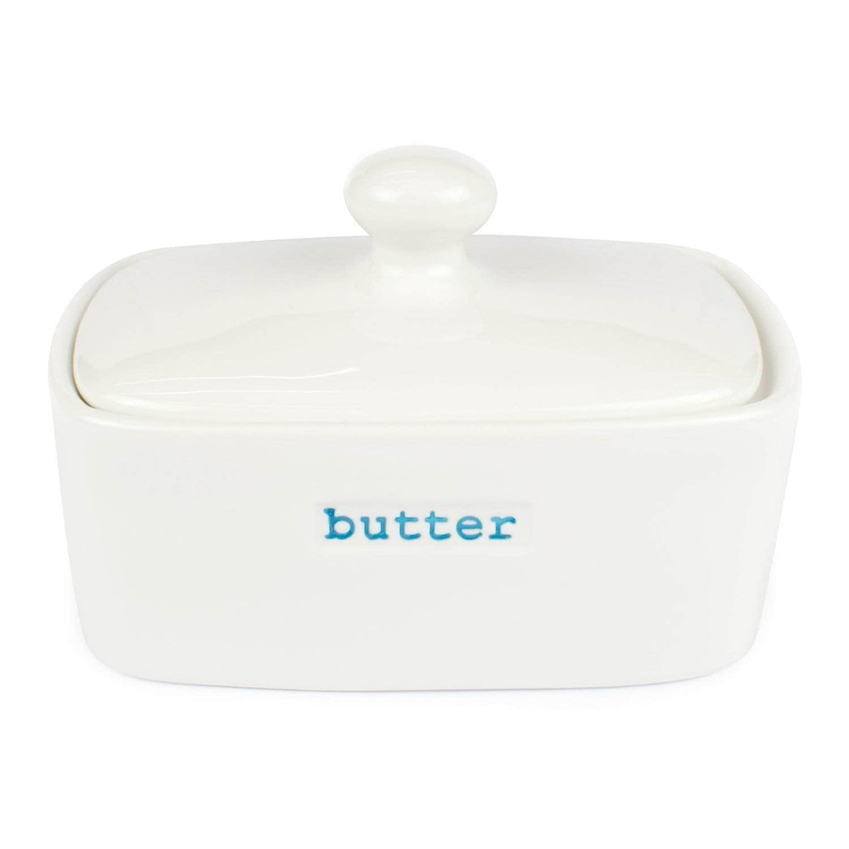 *New* Butter dish in white vitreous enamel