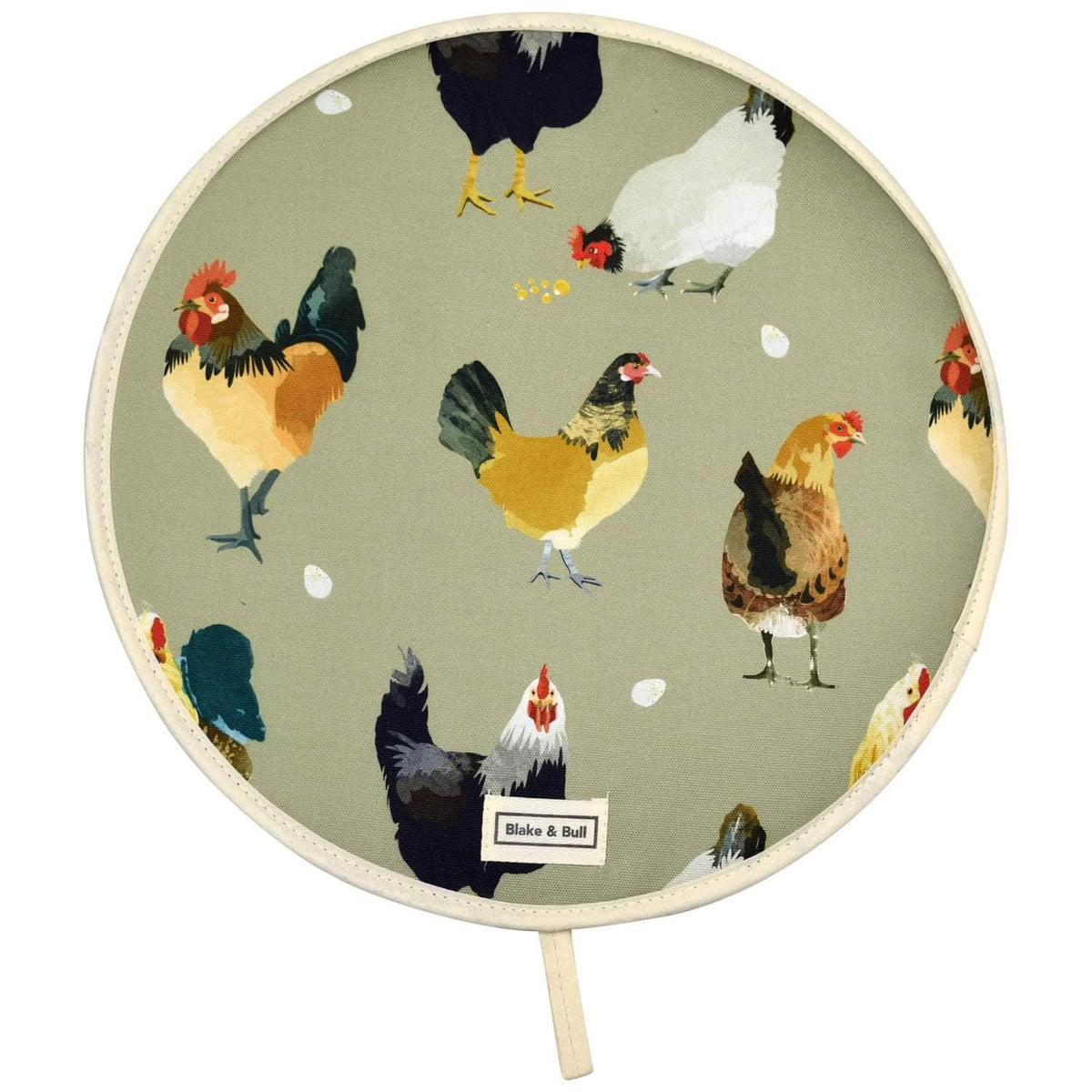 Chefs pad with loop for use with Aga range cookers - 'The Chickens'