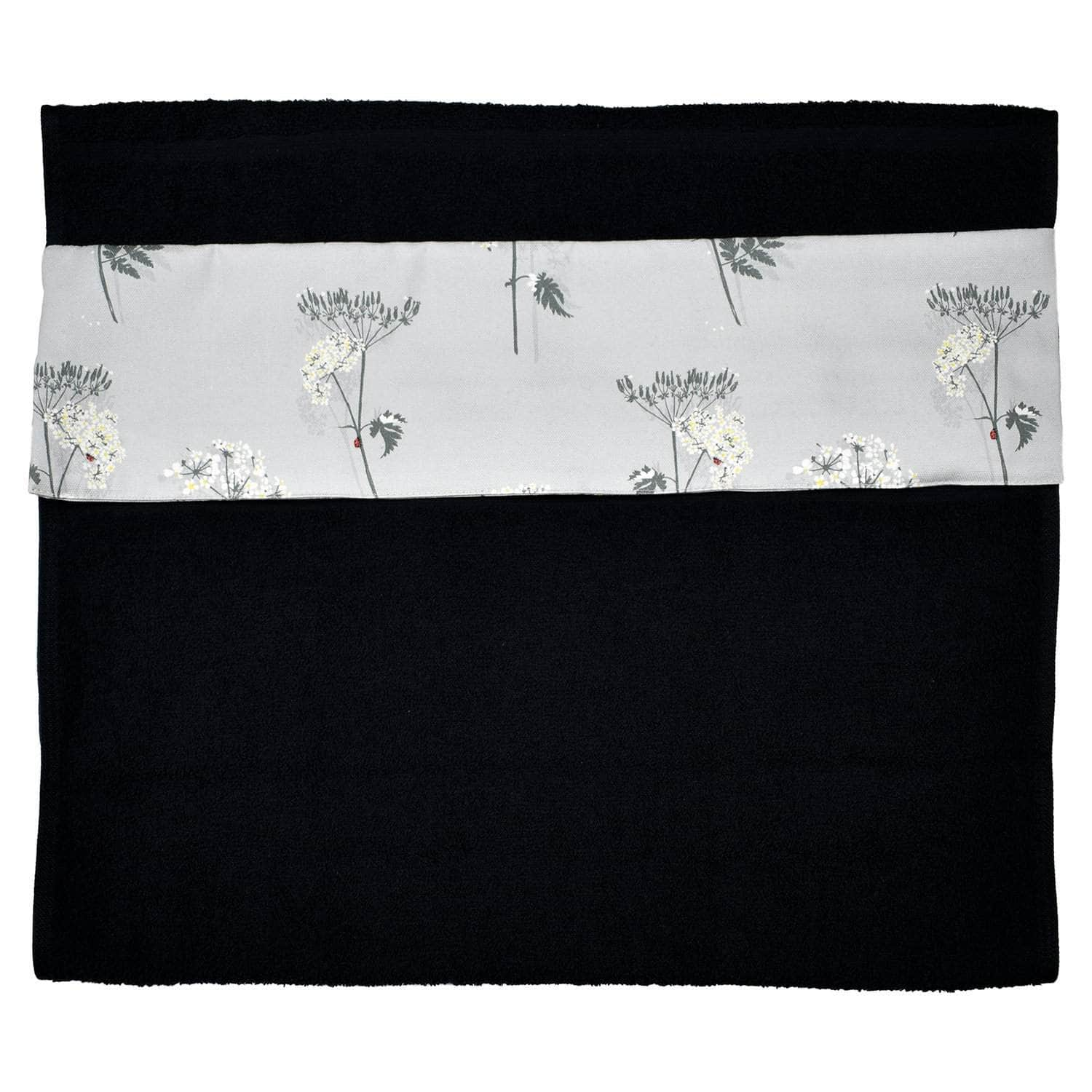 Wide (51 cm) hanging towel with velcro attachment - 'Cow Parsley'