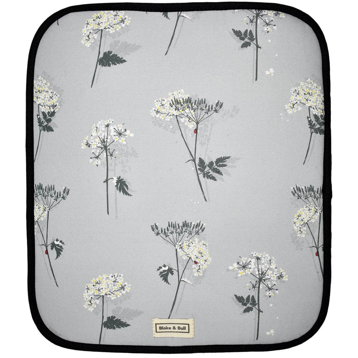 Warming plate cover for use with Aga range cookers - 'Cow Parsley'