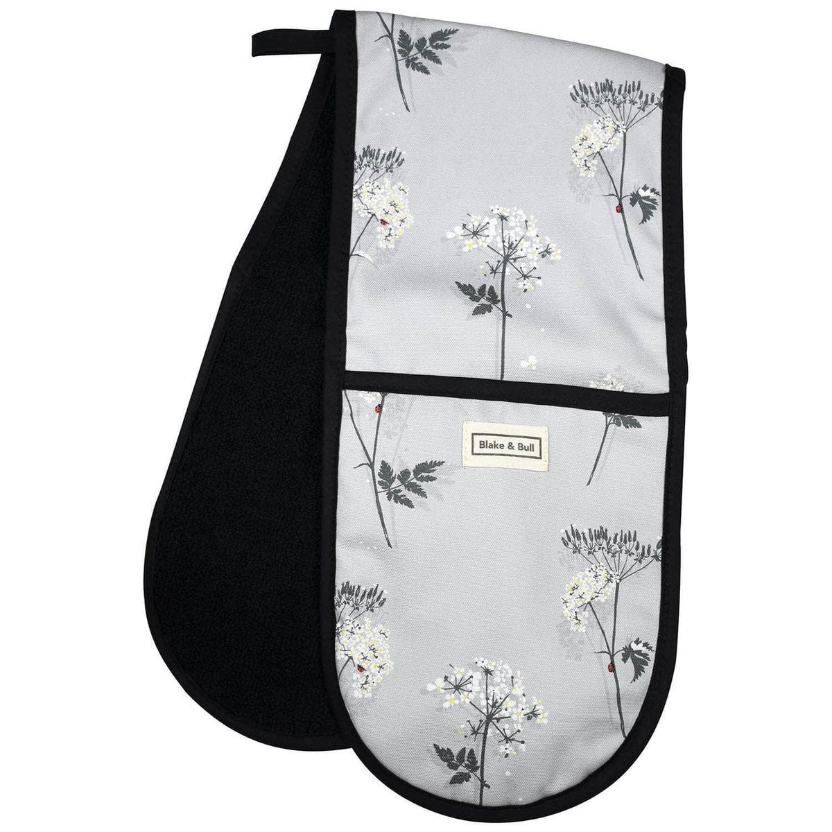 Oven glove for range cookers - 'Cow Parsley'
