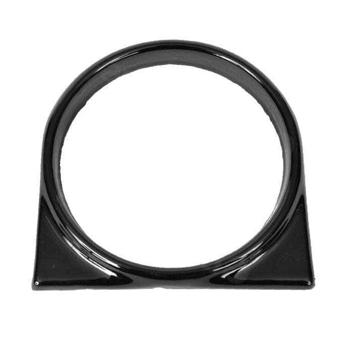 Flue shroud ring (black enamelled) for use with solid fuel or oil 'Deluxe' Aga range cookers