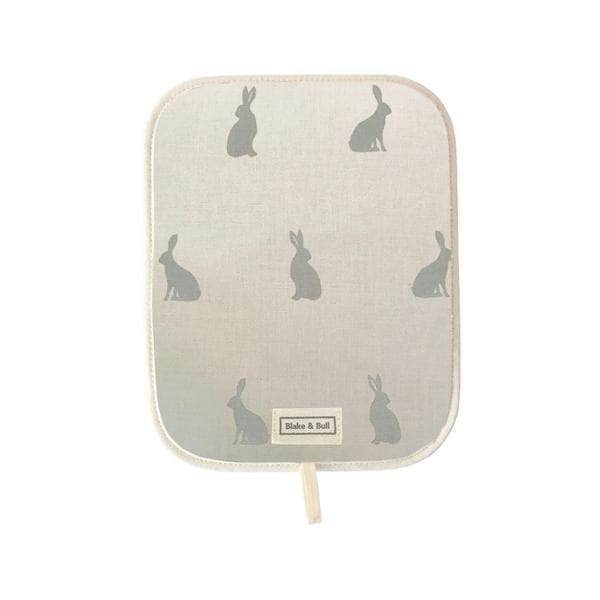 *Not quite perfect* Chefs pad with loop for use with Rayburn '400' series range cooker - 'Hare today'
