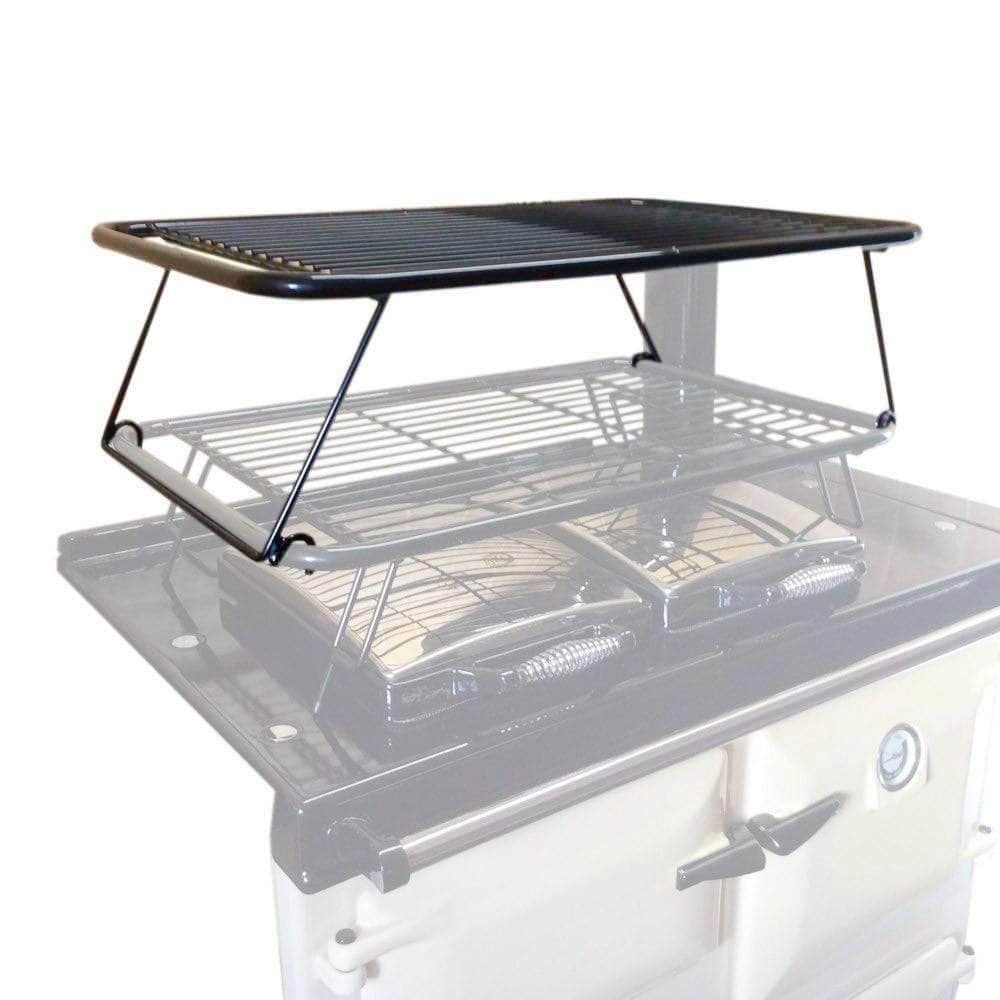 Second stage drying rack airer for use with Rayburn range cookers (gloss black)