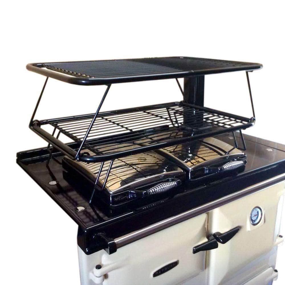 Drying rack airer set for use with Rayburn range cookers (gloss black) - The Full Monty! Saves £20 on individual cost