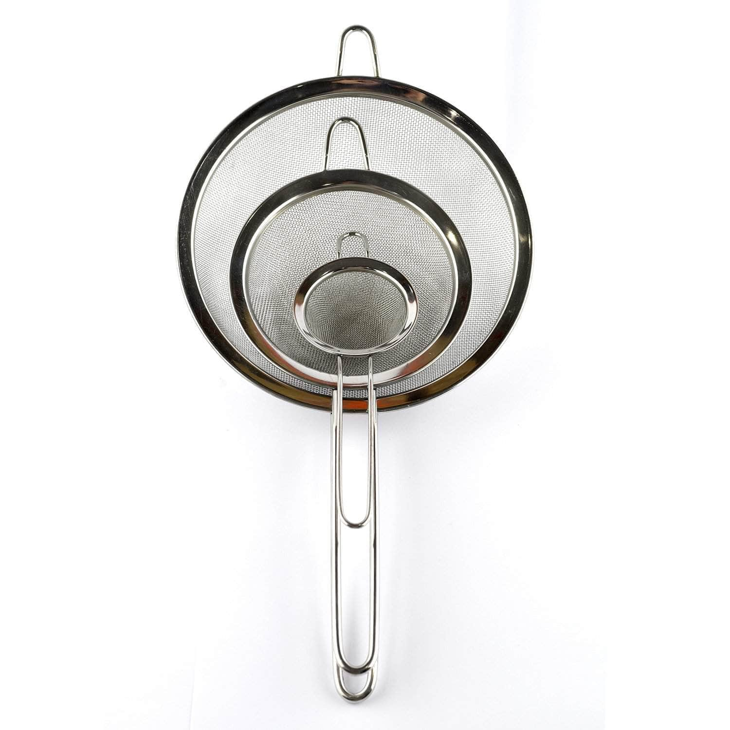 *NEW* Stainless steel three piece sieve set