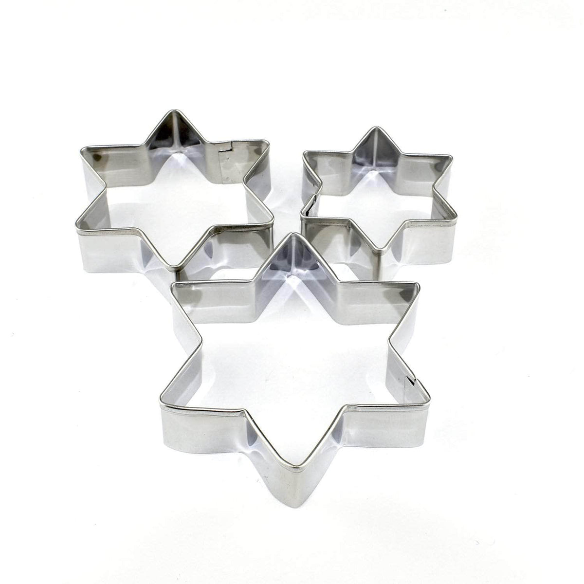*New* Star biscuit cutters, set of 3