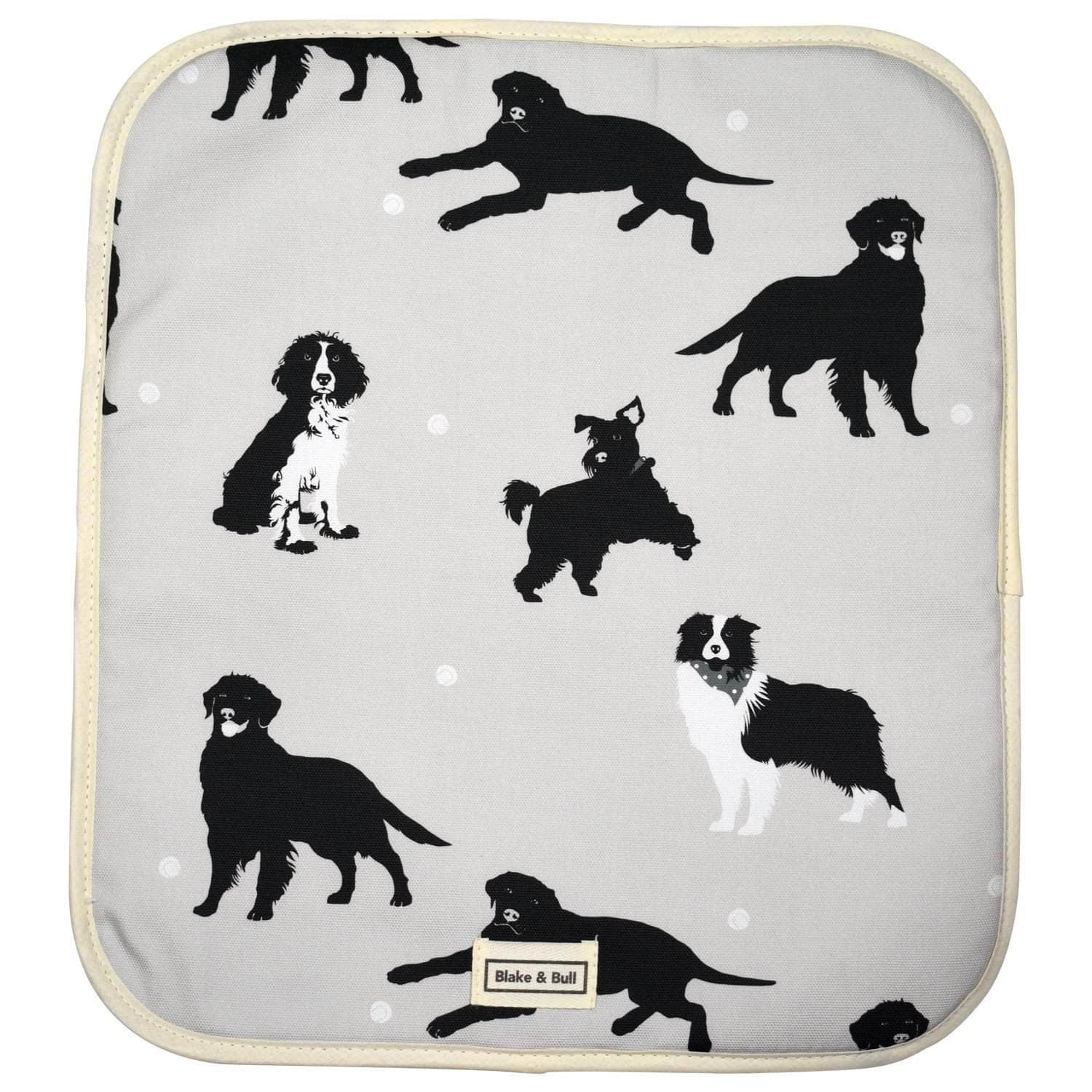 Warming plate cover for use with Aga range cookers - 'Good dog!'