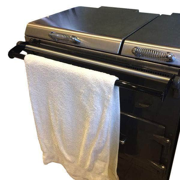 Drying rail for use with Everhot range cookers (gloss black)