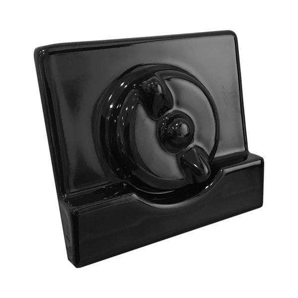 Black re-enamelled smoke box front plate and spin wheel to fit 'Standard' model Aga range cooker